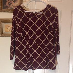 Formal burgundy blouse